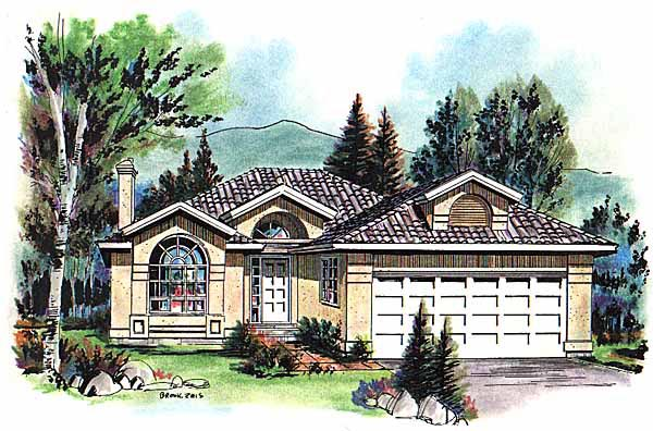 European Florida Mediterranean House Plan 98806 Elevation