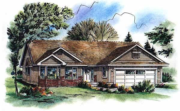 Ranch House Plan 98855 Elevation