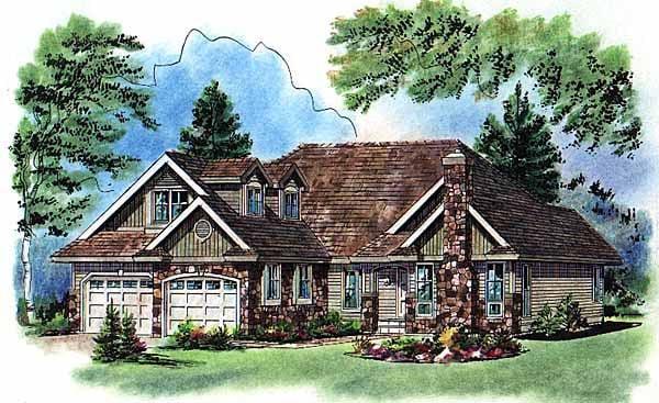 Craftsman Traditional House Plan 98864 Elevation