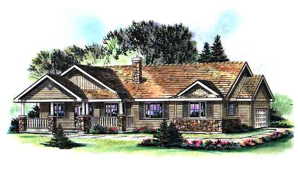 Ranch House Plan 98888 Elevation