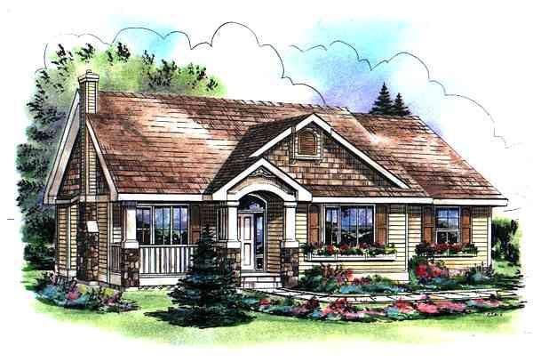 Bungalow Craftsman House Plan 98890 Elevation