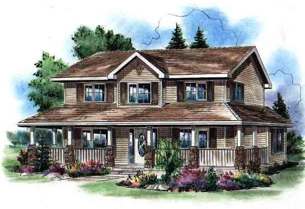 Farmhouse House Plan 98891