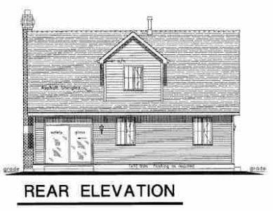 Cape Cod House Plan 98895 Rear Elevation