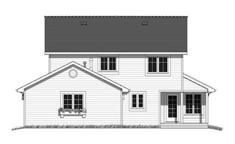 Country Southern House Plan 98898 Rear Elevation