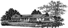 Bungalow, One-Story, Ranch House Plan 99030 with 3 Beds, 2 Baths Elevation