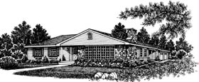 Bungalow, One-Story, Ranch House Plan 99031 with 3 Beds, 2 Baths, 2 Car Garage Elevation