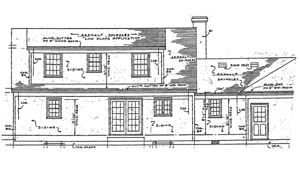 Cape Cod Country House Plan 99045 Rear Elevation