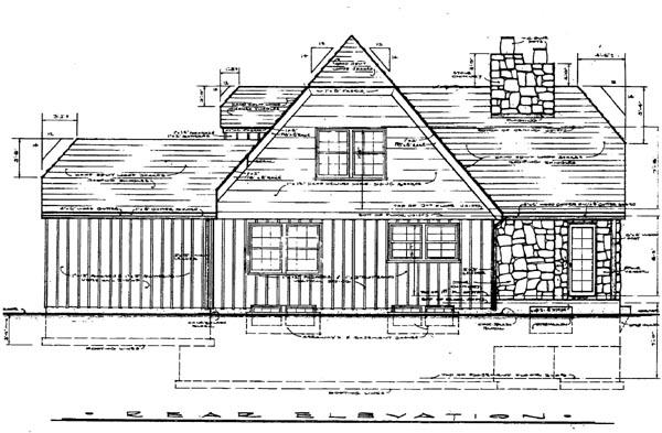 Tudor House Plan 99098 Rear Elevation