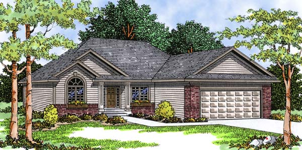European Ranch House Plan 99106 Elevation