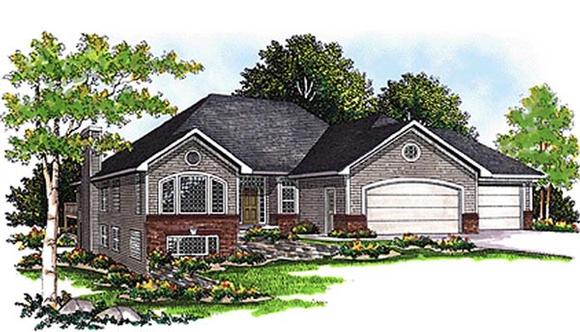 European, One-Story House Plan 99110 with 2 Beds, 2 Baths, 3 Car Garage Elevation