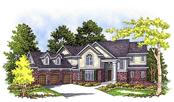Elevation of European   House Plan 99118