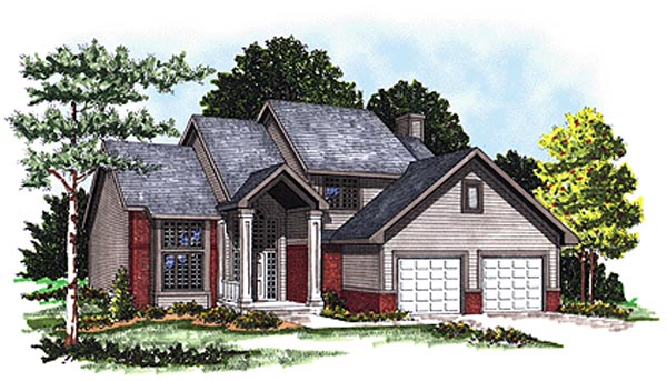 Traditional House Plan 99127 with 3 Beds, 3 Baths, 2 Car Garage Elevation