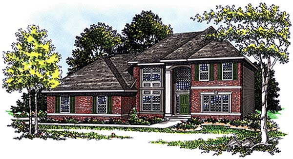 European Tudor House Plan 99135 Elevation