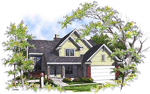 Colonial House Plan 99137 Elevation