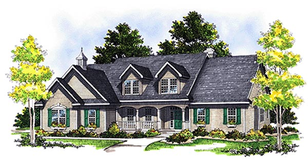 Cape Cod Country House Plan 99161 Elevation
