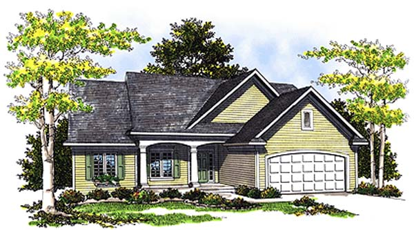 Ranch House Plan 99167 Elevation