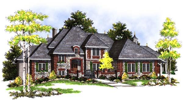 European Tudor House Plan 99177 Elevation