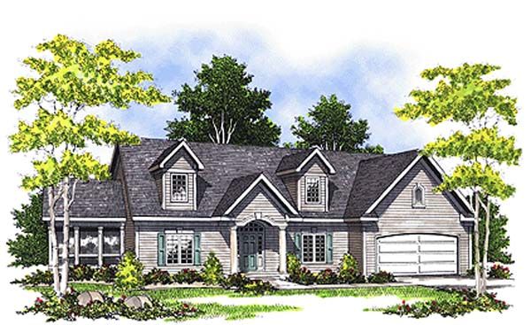 Cape Cod Country House Plan 99179 Elevation