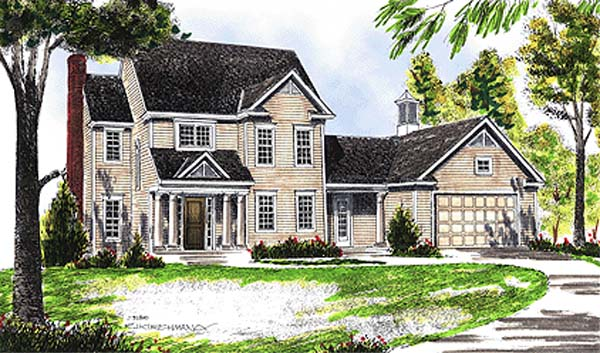 Colonial Country House Plan 99183 Elevation