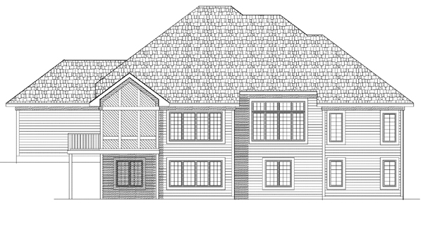 European House Plan 99195 Rear Elevation