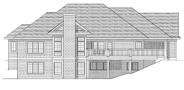 European Tudor House Plan 99199 Rear Elevation