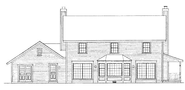 Country House Plan 99205 Rear Elevation