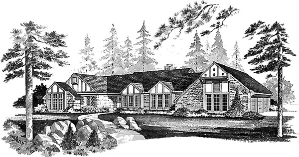 Tudor House Plan 99225