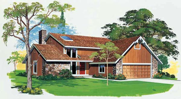 Bungalow Contemporary House Plan 99229 Elevation