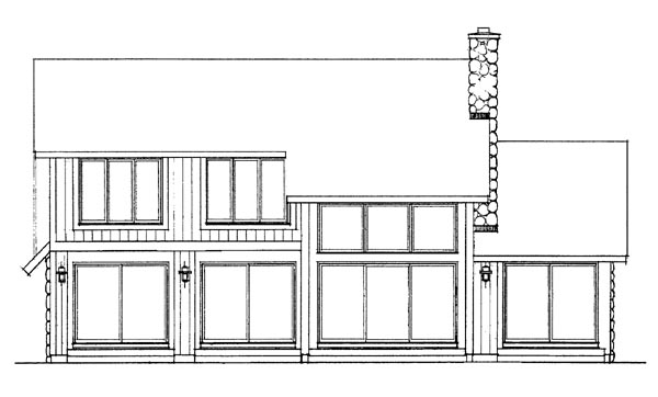 Bungalow Contemporary House Plan 99229 Rear Elevation