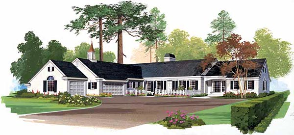 Ranch House Plan 99240 Elevation