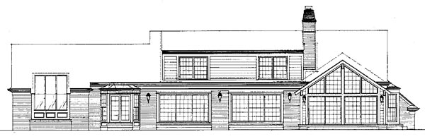 Ranch House Plan 99240 Rear Elevation