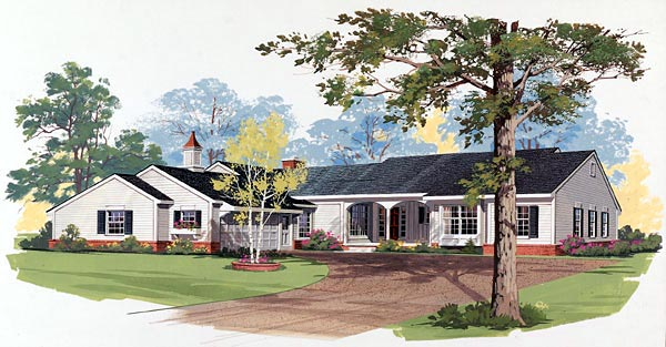 Farmhouse Ranch House Plan 99246 Elevation