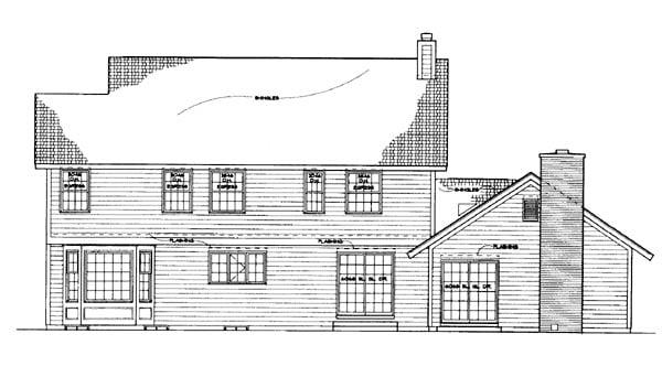 Mediterranean House Plan 99271 Rear Elevation