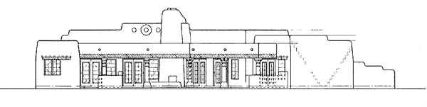 Santa Fe Southwest House Plan 99276 Rear Elevation