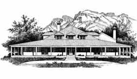 Prairie Style Southwest House Plan 99278 Elevation