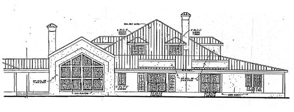 Prairie Style Southwest House Plan 99278 Rear Elevation