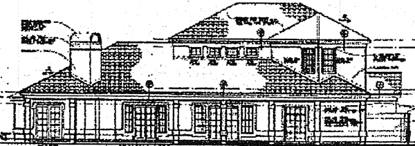 Mediterranean House Plan 99290 Rear Elevation