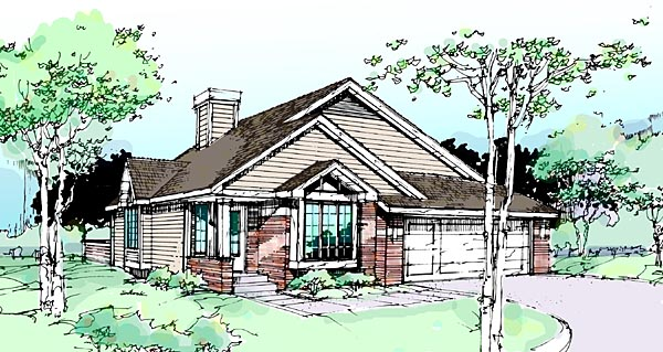 Traditional House Plan 99302 Elevation