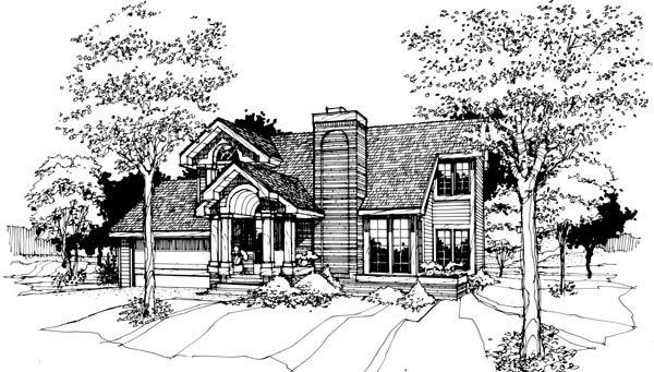 Contemporary House Plan 99304 Elevation