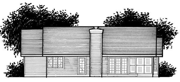 Ranch House Plan 99311 Rear Elevation