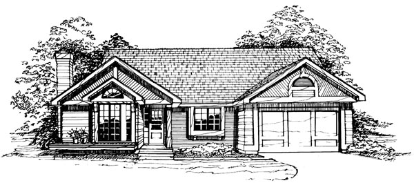 Ranch House Plan 99324 Elevation