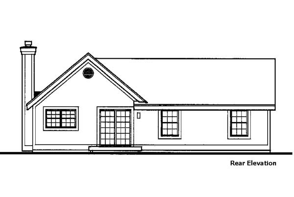 Country House Plan 99365 Rear Elevation