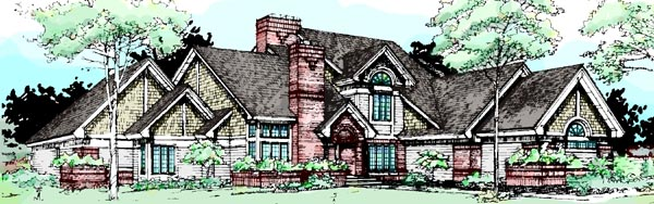 House Plan 99369 Elevation