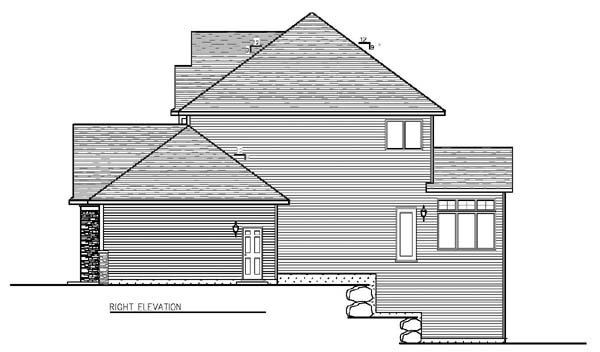 Cottage, Craftsman, Traditional House Plan 99376 with 4 Beds, 3 Baths, 3 Car Garage Picture 2