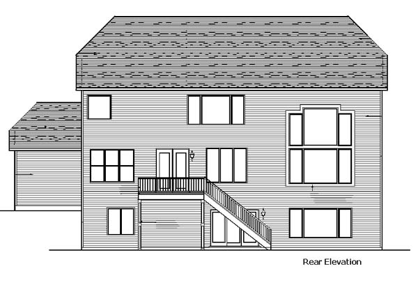 Traditional House Plan 99379 Rear Elevation