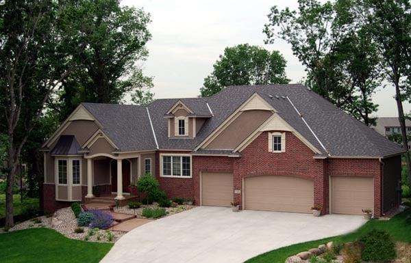 Cottage Craftsman Traditional House Plan 99388 Elevation