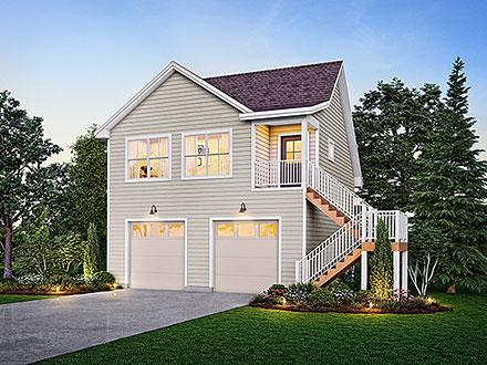 Garage-Living Plan 99393