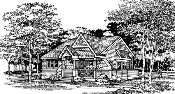 Cottage, Tudor House Plan 99394 with 2 Beds, 2 Baths Picture 1