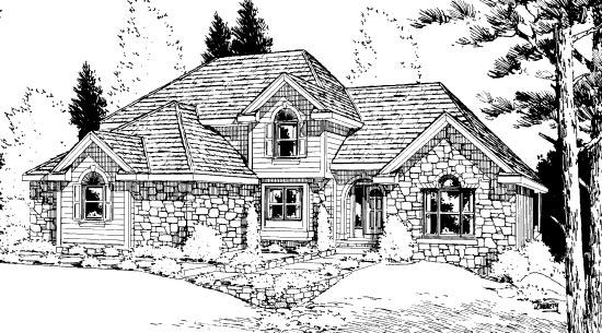 Bungalow House Plan 99414