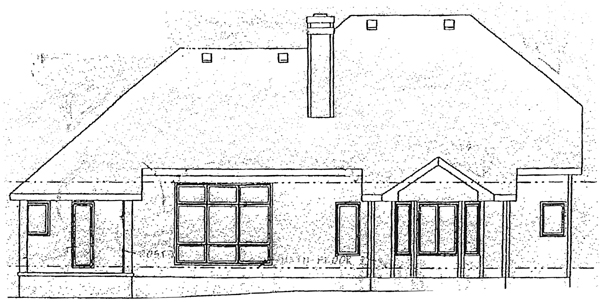 Bungalow House Plan 99414 Rear Elevation
